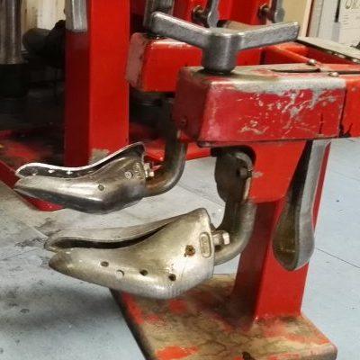 Udblokning af sko